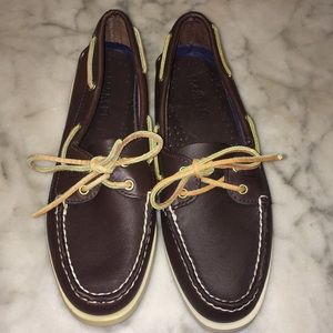 Sperry Original 2 Eye Brown Leather Boat Shoes 9